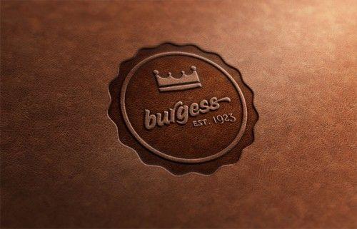 Burgess Leather Stamp Badge by James Fletcher