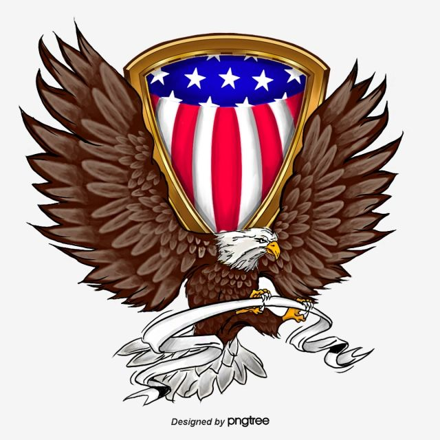 White Headed Eagle Hand Painted Elements Of American Shield Ribbon National Flag National Bird Png Transparent Clipart Image And Psd File For Free Download Eagle Art Flag Painting National Flag