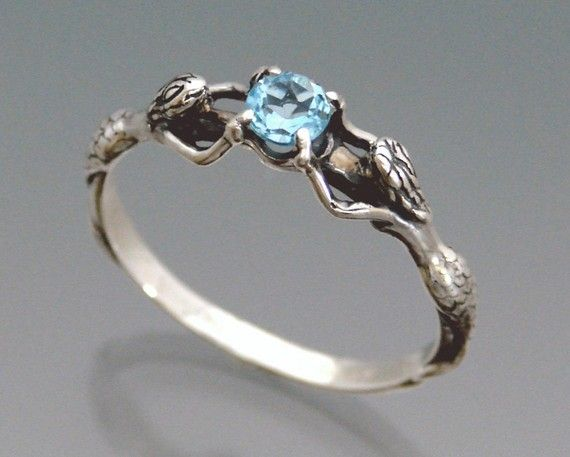 Size 8 Mermaid ring with London Blue Topaz by SheppardHillDesigns