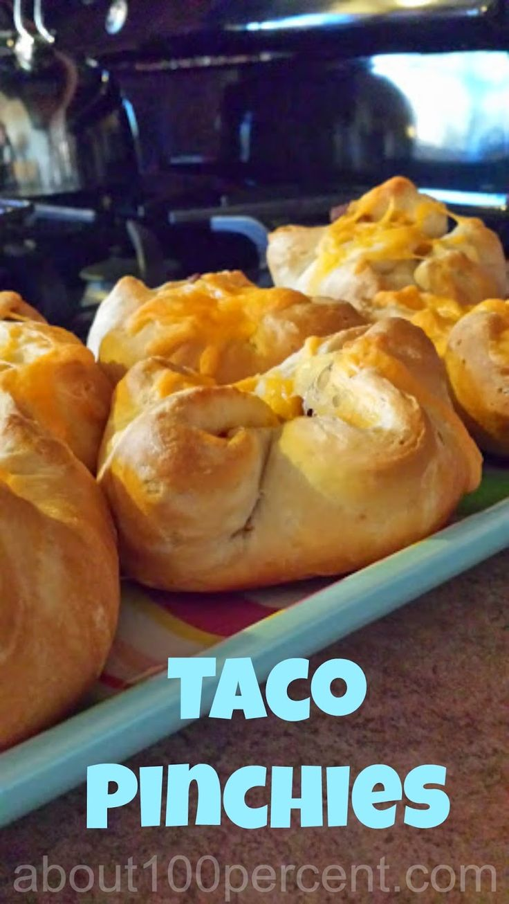 Taco Pinchies - brilliant! Pilsbury biscuits stuffed with beef and cheese