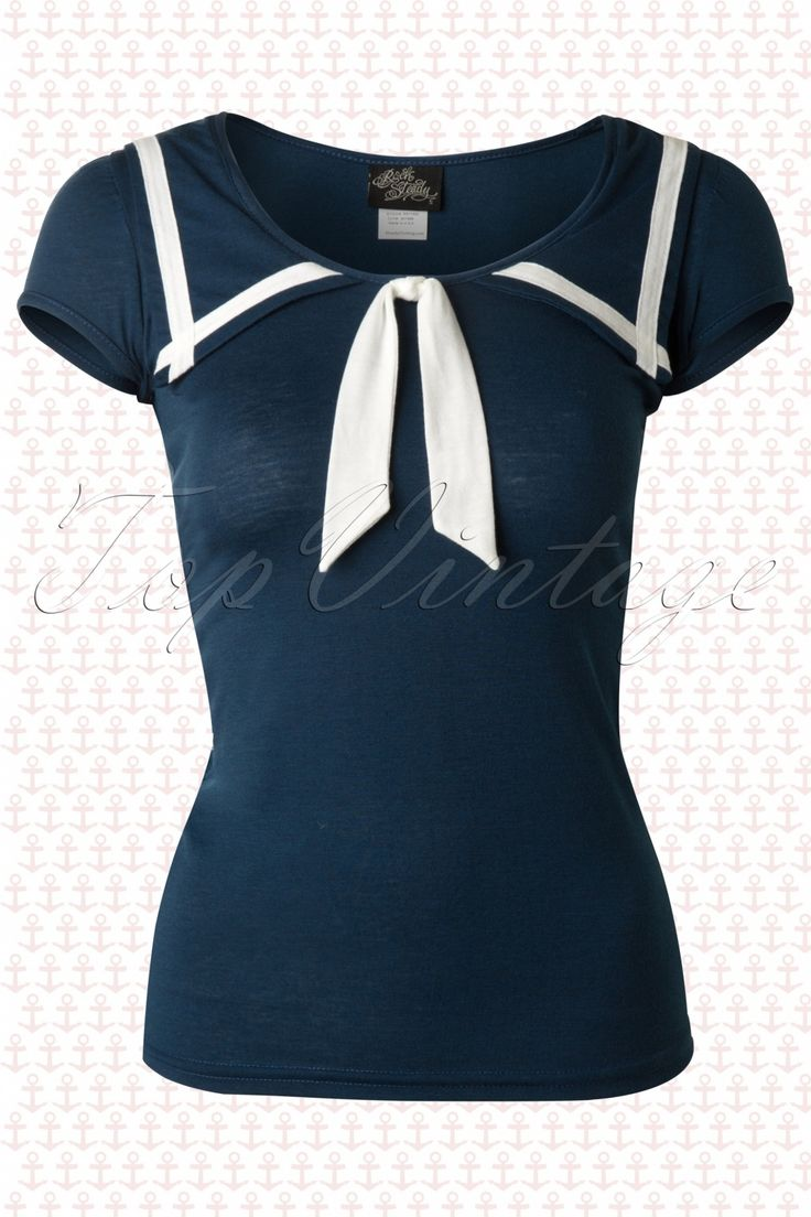 Steady Clothing - 50s Lucky Sailor Top in Teal