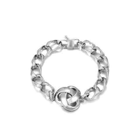 Plain Stainless Steel Chain Bracelet for Men