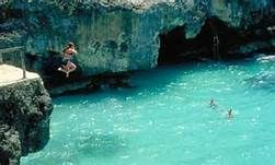 Cliff jumping, Grand Cayman Island