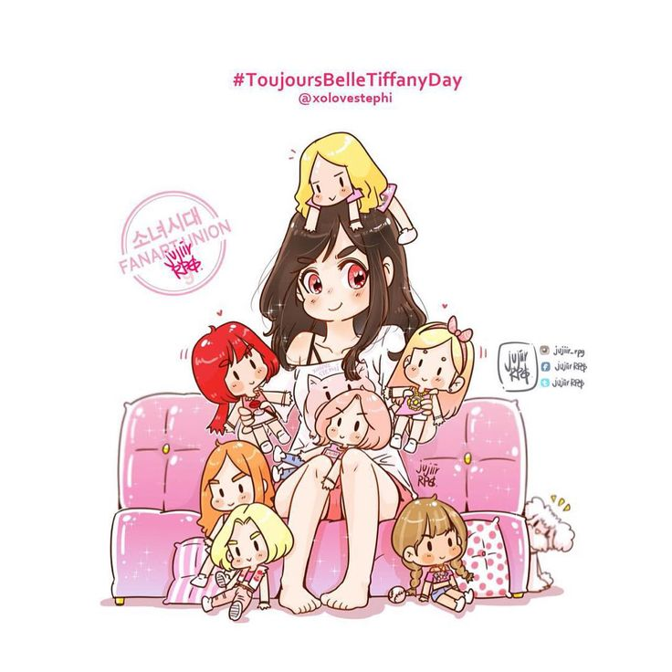 Girls' Generation members celebrate Tiffany's 26th birthday