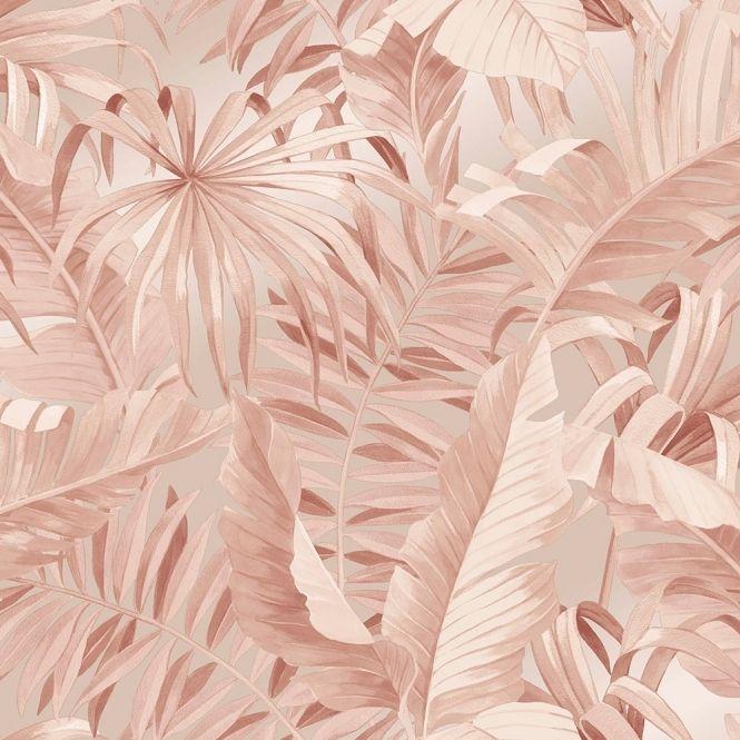 Lucie Annabel Palma Tropical Wallpaper Blush In 2020 Tropical