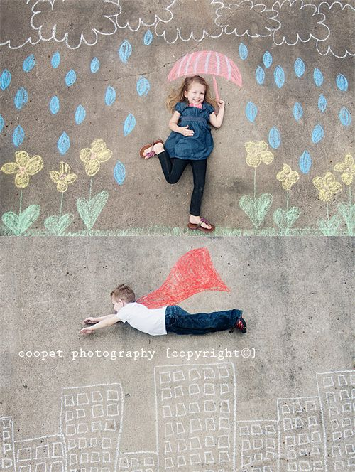 What a fun thing to do in the driveway with kids or even your dog!  Gotta do this!
