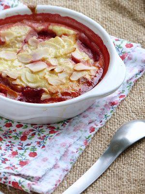 Gratins fraises et amandes (un dessert léger et sans gluten)