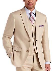 Pronto Uomo Platinum Modern Fit Linen Suit Separates Coat Tan