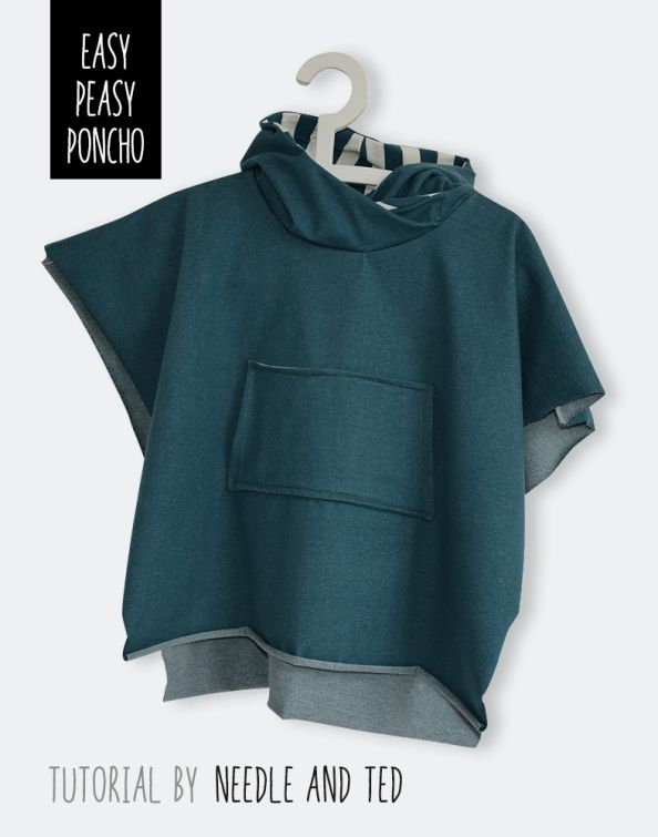 free pattern poncho tutorial by Needle and Ted