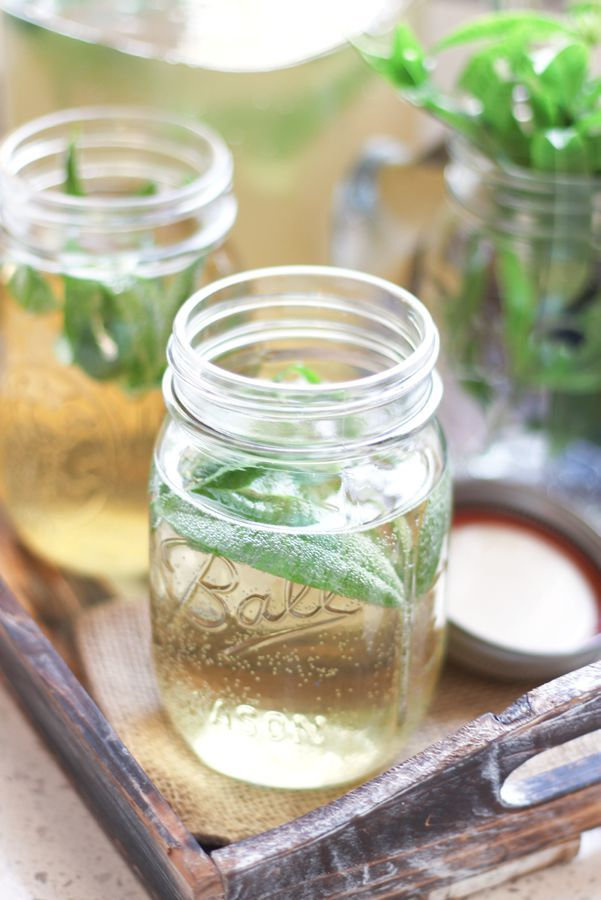 Lemon Verbena Kombucha is fragrant with a sweet, light lemon flavor. It's simple to make, refreshing and my favorite kombucha flavor of all time.