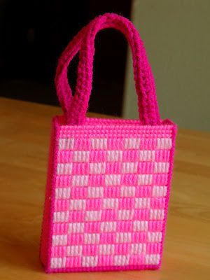 Plastic Canvas Purse - What a fun and creative craft medium for kids and adults alike! You can make almost anything from it.