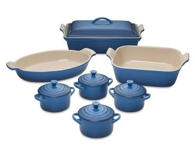 i love the le creuset heritage stoneware 12piece bakeware set marseille blue on - Bakeware Sets
