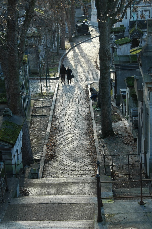 Pere Lachaise Crossing - the stone paths of Cimetiere du Pere Lachaise, Paris