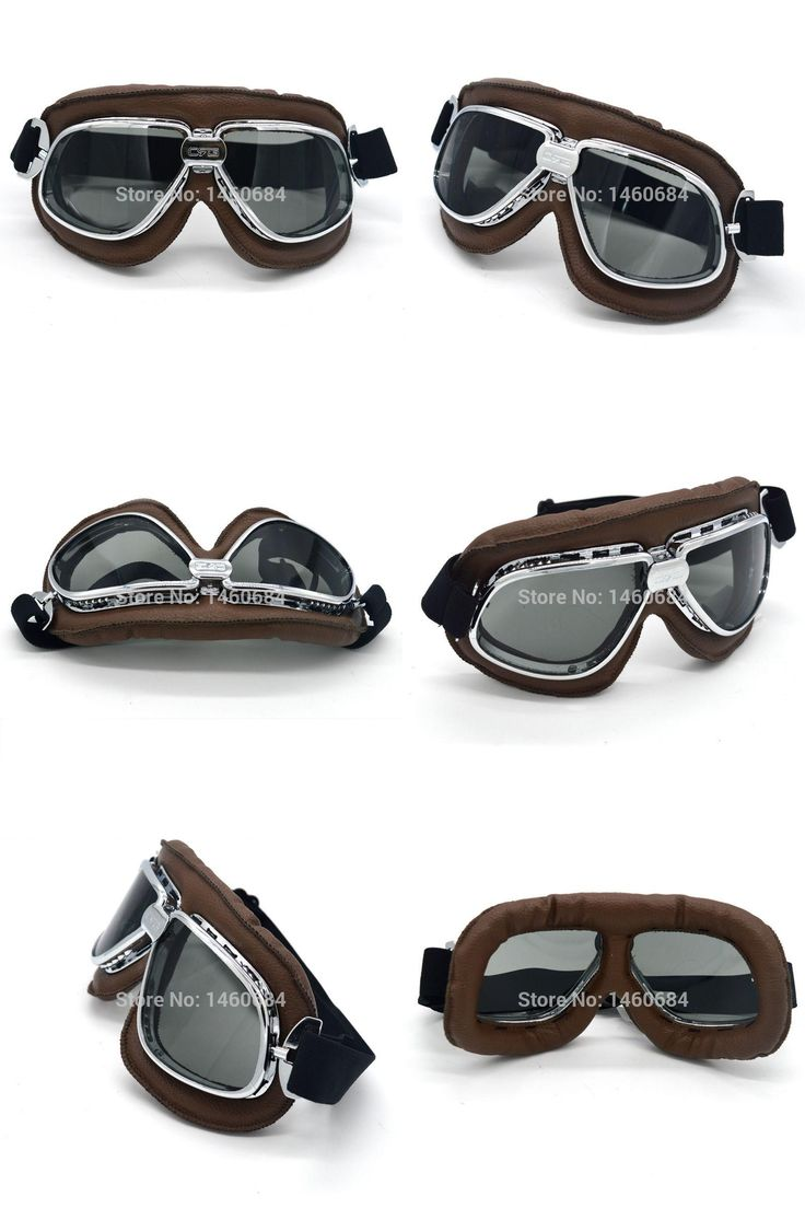 [Visit to Buy] 2017 Motorcycle Goggles Retro Vintage Gafas Motocross Off Road WWII Flying Motorbike Cruiser goggle steampunk Glasses Smoke Lens #Advertisement