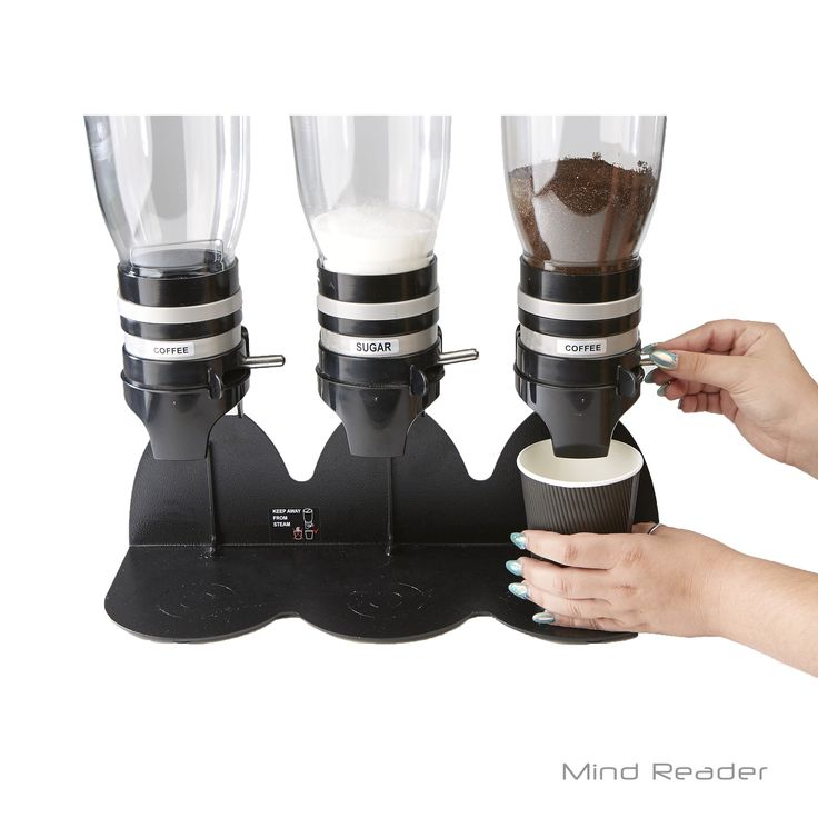Mindreader Mind Reader Metal Triple Standing Base Coffee Dispenser (Black)