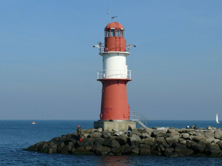Leuchtturm molenfeuer ostmole warnem nde island of r gen for Warnemunde silvester
