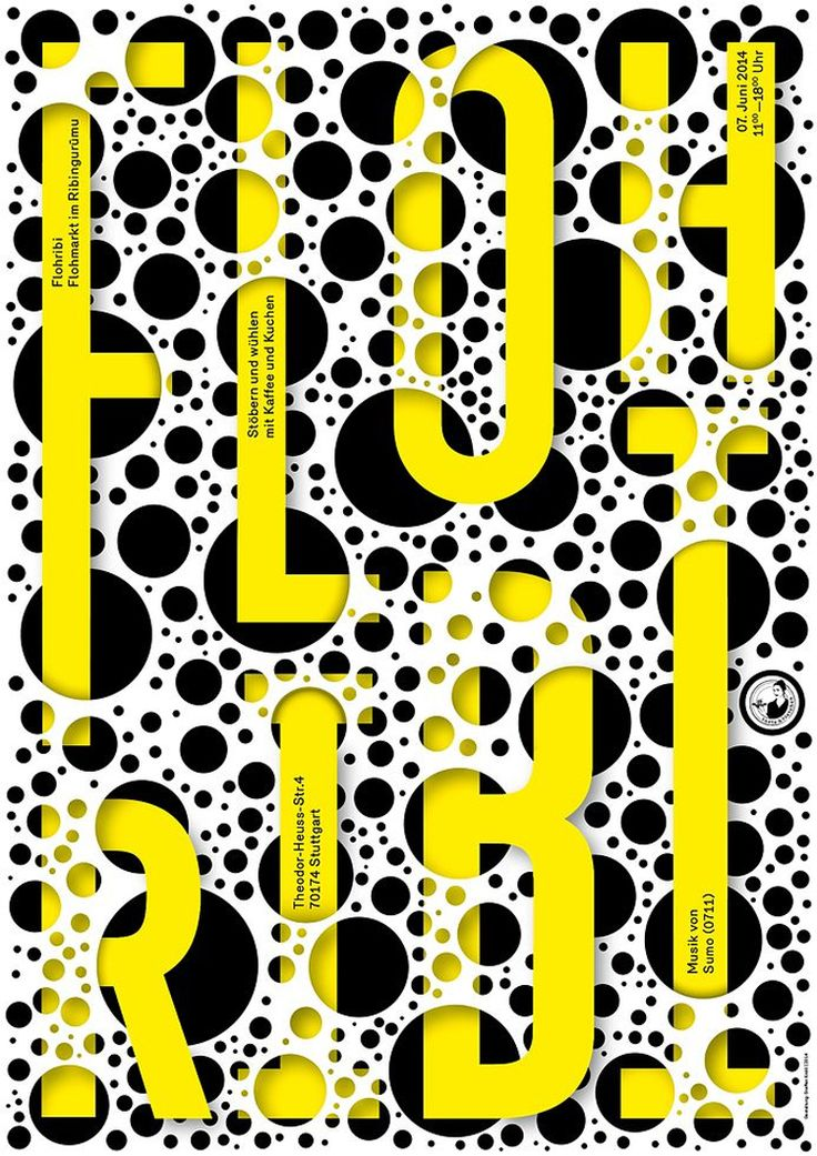 100 Best Posters 14 -- This iteration of the German-language graphic design competition attracted 575 entries, which were whittled down to 100 by the judges. #poster #typography