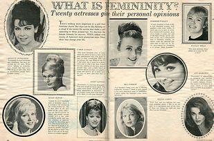 """Teen magazine asks the most popular actresses of 1965, """"What is femininity?"""" Scroll down to see their answers below. 