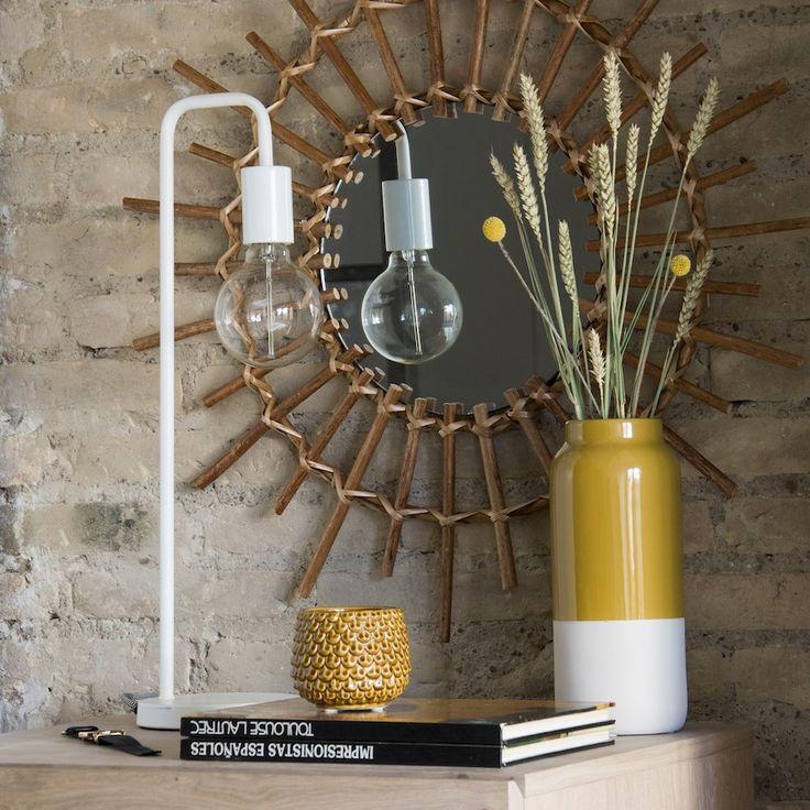 Grin lámpara de mesa blanca