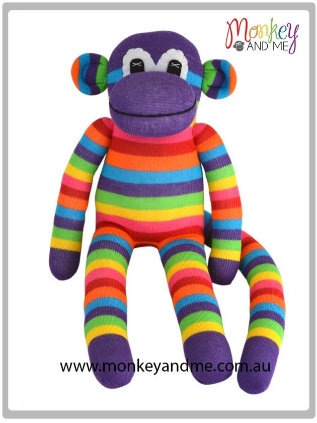 Lolly the Sock Monkey  Adopt over at http://monkeyandme.com.au #sockmonkeys #gifts #toys