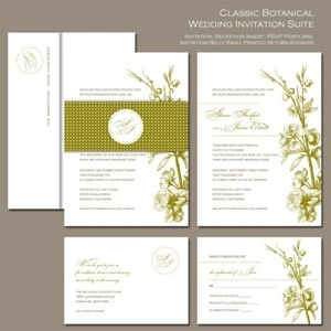 Classic Botanical Wedding Invitation Suite from @etsy wedding