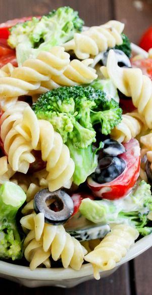 Pasta  Broccoli Salad with Creamy Lemon Dressing