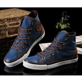 Converse Shoes Blue Vampire Diaries Classic High