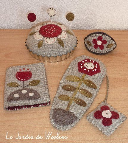 Woollen Applied Pattern with templates and explanations in french