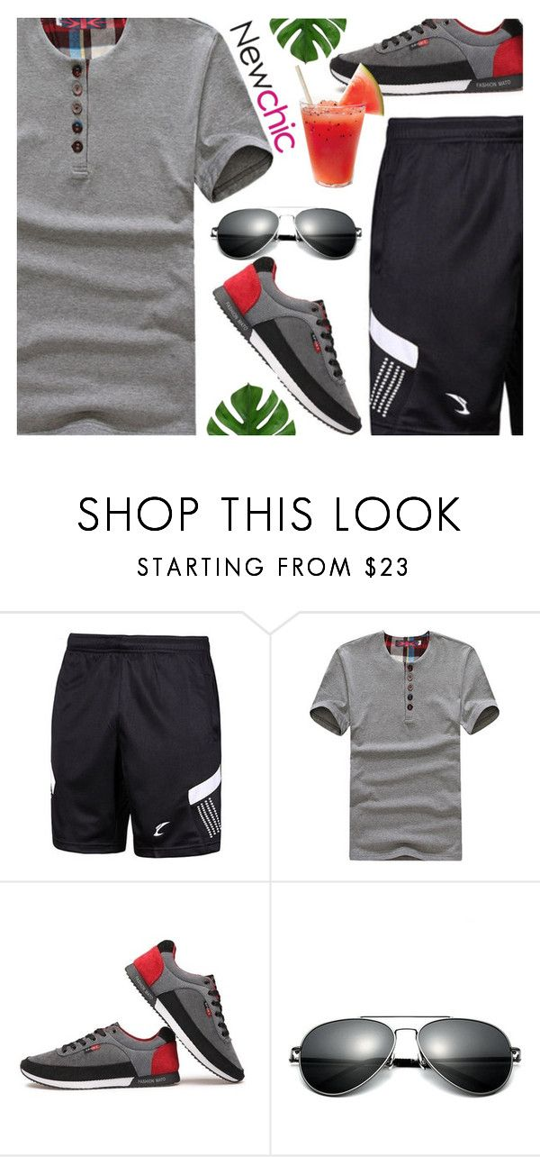 """""""Newchic"""" by ana3blue on Polyvore featuring men's fashion and menswear"""