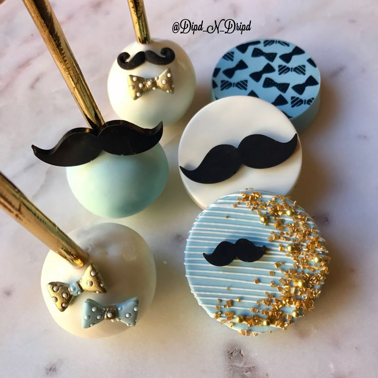 Mustache Theme Cookies, Mustache Theme Oreos, Mustache Theme Cake Pops,  Little Man Theme! #chocolatecovered #chocolatecoveredoreos #cakepops #cake #cakelover #baking #dessert #bakinglove #chocolatier #tutorial #diy #eat #eats #lovefood #dessertgasm #love #edibleart #chocolateart #chocolatecoveredricekrispiestreats #donuts #mustachetheme #bowtietheme #littlemantheme