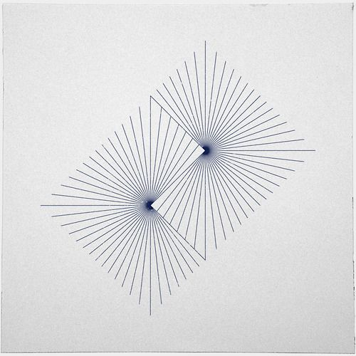 #262 Binary suns – A new minimal geometric composition each day