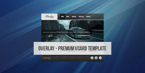 Overlay - Creative Vcard - ThemeForest Item for Sale
