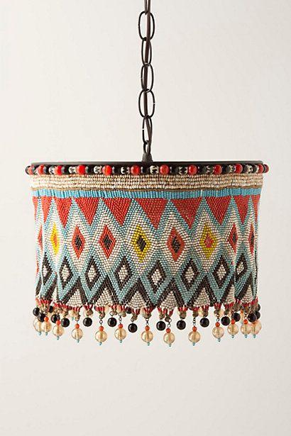 African waist beaded lamp