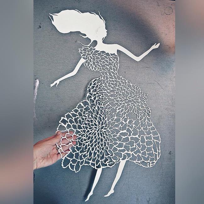 Kağıt Kesme Sanatıyla Moda İllüstrasyonları Tasarlayan Sanatçı: 'Eugenia Zoloto' Sanatlı Bi Blog 8