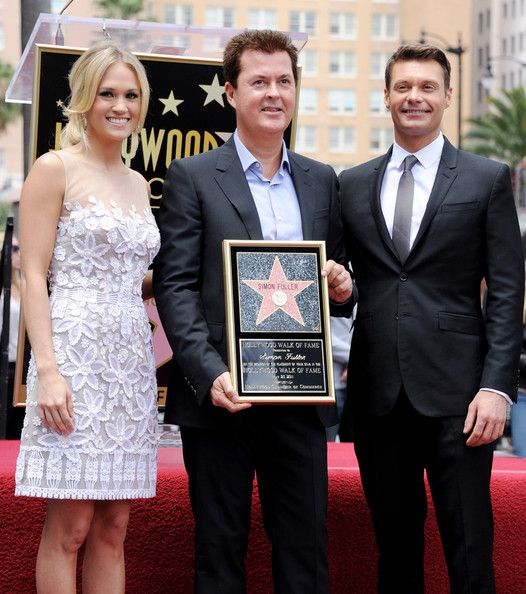 Carrie Underwood and Simon Fuller - Simon Fuller Honored On The Hollywood Walk Of Fame
