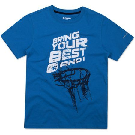 buy popular 2b923 2935f AND1 Boys 4-20 Bring Your Best Graphic Tee Shirt, Size 8, Blue
