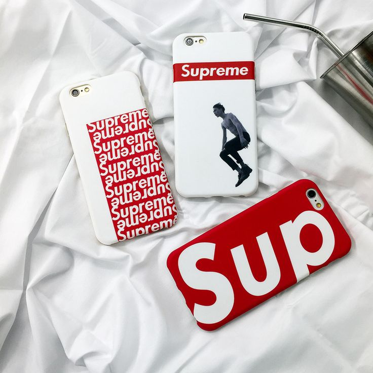 NEW High Quality Fashion Brand Supreme Silicon Soft  Cover CASE For iPhone 6 6s 6Plus 7Plus 7 Cases Phone Bags couqe fundas capa