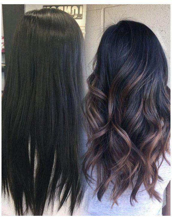 Hair Color Ideas For Black Hair Haircolorideasforblackhair Fall Hair Color For Brunettes Balayage Hair Hair Styles