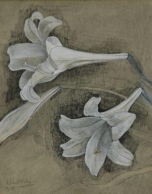 Albert Fiks (Elberfeld (Duitsland) 1908-1945 Laren (N.H.)) Witte lelies