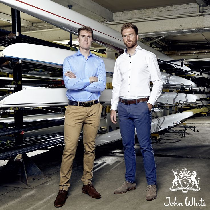 Olympic Bronze Medalists George Nash and William Saatch (rowing) wear the John White Westbury Suede Chukka Boots in brown and taupe