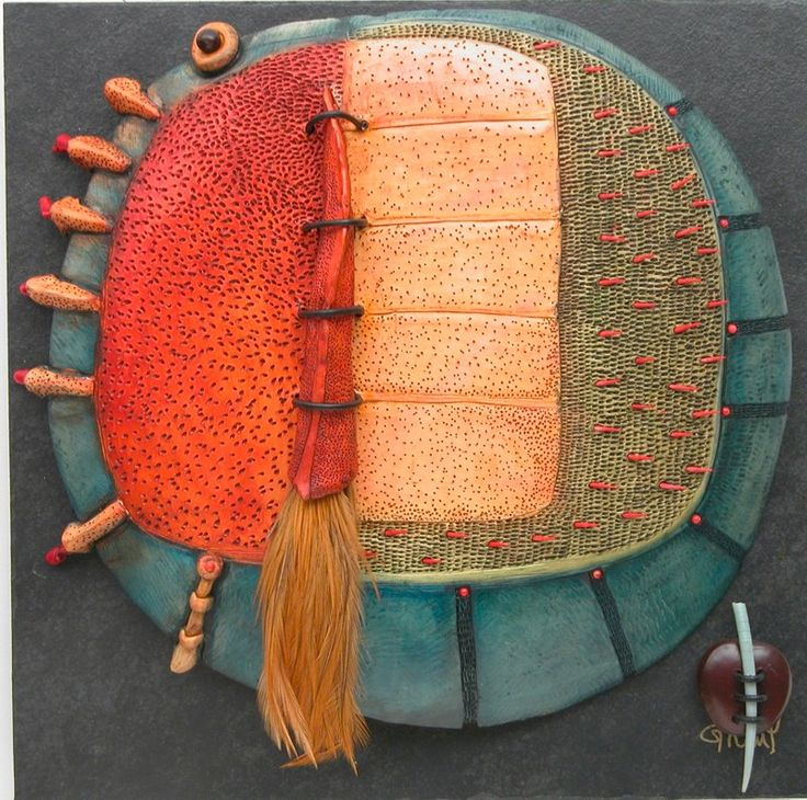 Vicky Grant http://www.claytreefinearts.com/Claytree/Wall_Sculptures.html#grid