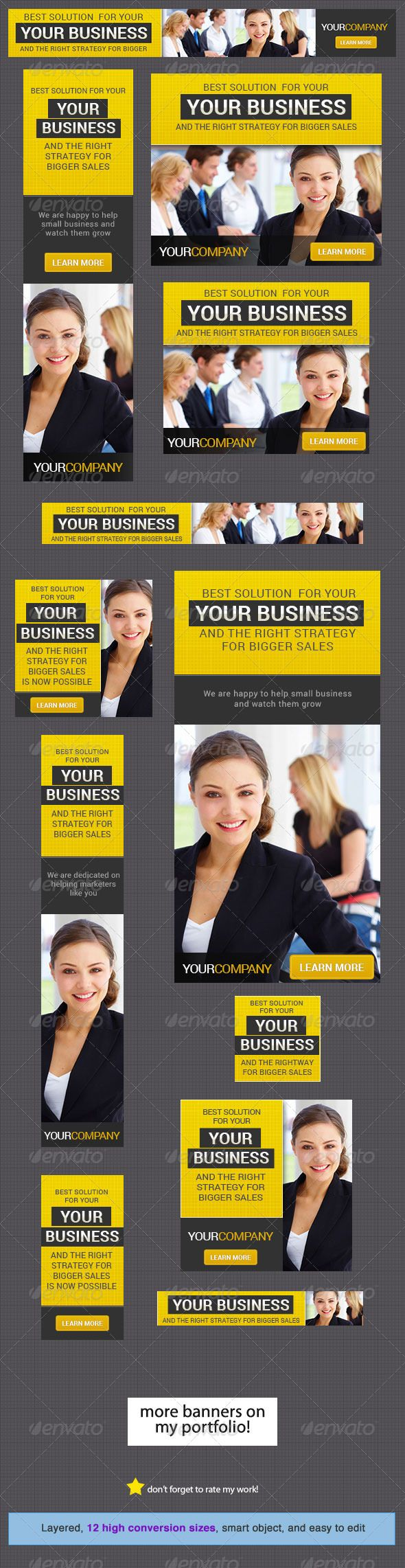 Corporate Banner Design Template 7 - Banners & Ads Web Template PSD. Download here: http://graphicriver.net/item/corporate-banner-design-template-7/4445877?s_rank=84&ref=yinkira