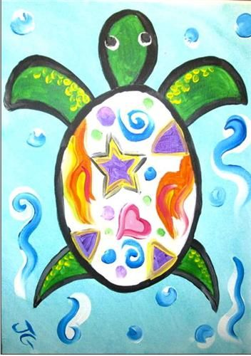 turtle crazy wine canvas cookies canvas calendar canvas painting kidscanvas - Kids Painting Images