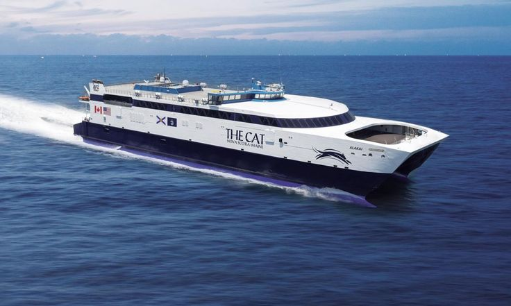Save 5.5 hours' driving time traveling between Maine and Nova Scotia by choosing The Cat ferry, linking Yarmouth, NS and Portland, ME.