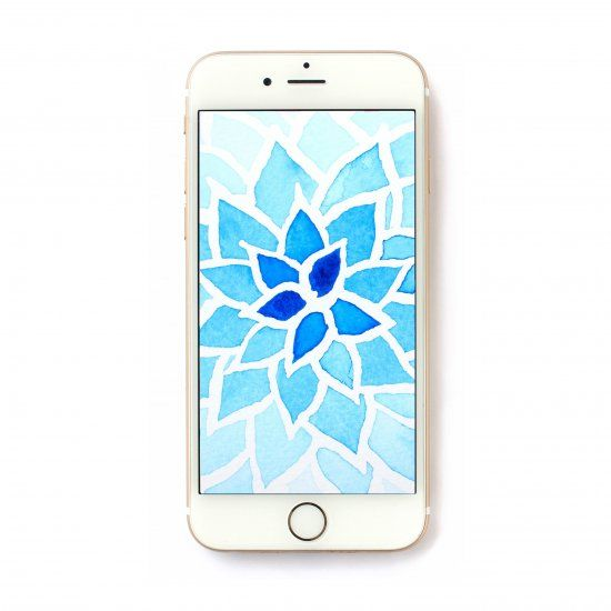 Download this beautiful hand painted watercolor wallpaper for your iPhone or Andriod.