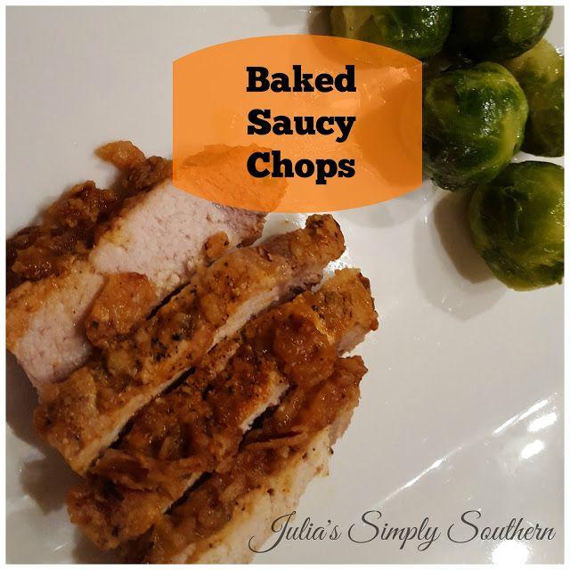 Baked Saucy Chops Recipe Recipe Chops Recipe Easy Pork Chop Recipes Recipes