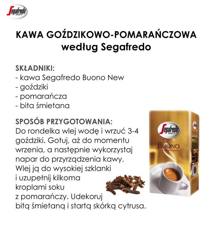 Aromatyczna kawa, bogata w witaminy pomarańcza i korzenne goździki… czy istnieje lepsze, jesienne połączenie smaków? Nasza propozycja z pewnością rozgrzeje i wzmocni Was w chłodne dni. #KlubSegafredo #JesiennaKawa #KawaGoździkowoPomarańczowa #BuonoNew #RozgrzewającaKawa