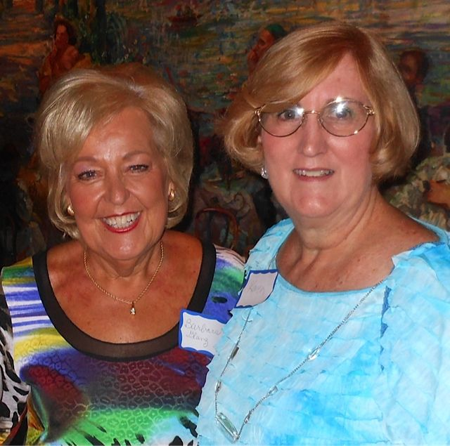 Barbara Glanz and Karen Malesky at the Sarsota Sister Cities Meet & Greet at Carigiuios on Palm Ave. in downtown Sarasota