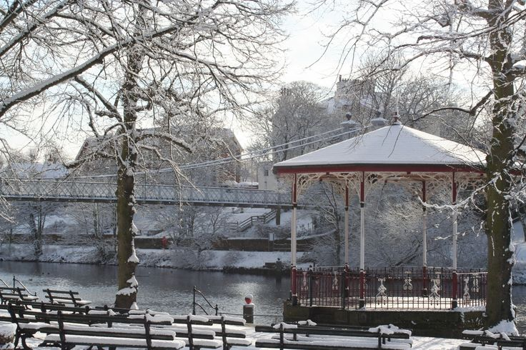 Bandstand in the Snow.