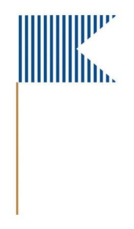 Blue Paper Flag Picks | 24ct for $3.00 in Cupcake Liners - Cake/Cupcakes
